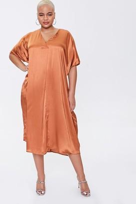 Forever 21 Plus Size Satin Midi Dress