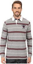 U.S. Polo Assn. Long Sleeve Rugby Striped Crest Patch Polo Shirt