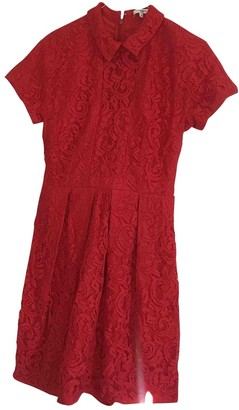 Carven Red Lace Dresses