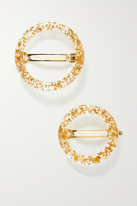 Cult Gaia Ria Set Of Two Acrylic Hair Clips - Gold