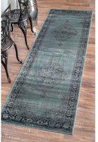 nuLoom Oriental Vintage Viscose Persian Marine Runner Rug (2'7 x 8')
