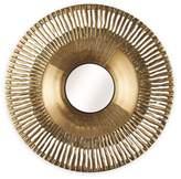 Arthouse 31-Inchx31-Inch Round Sunbeam Wall Mirror in Gold