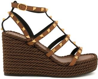 Valentino Garavani Rockstud ankle strap 95mm sandals
