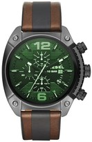Diesel 'Overflow' Chronograph Leather Strap Watch, 54mm