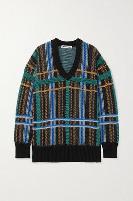 McQ Checked Cotton-blend Sweater