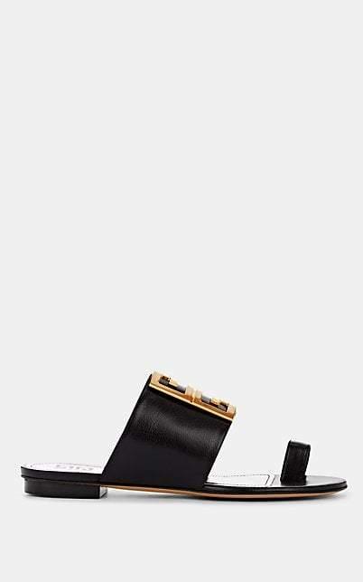 Givenchy Women's Logo-Embellished Leather Sandals - Black