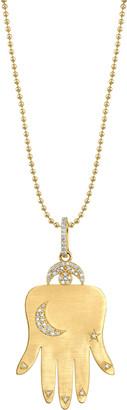 Sheryl Lowe Gypsy Hand Of Fortune 14K Gold Diamond Necklace
