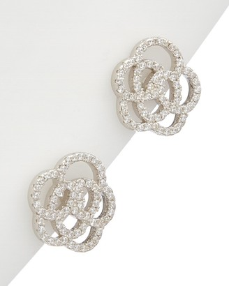 Alanna Bess Limited Collection Silver Cz Flower Studs