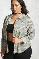 Forever 21 Plus Size Camo Print Jacket