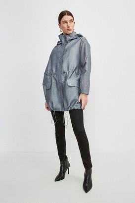Karen Millen Luxe Organza Parka Coat