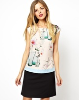 Ted Baker Shift Dress with Water Bottles Print