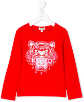 Kenzo tiger print longsleeved T-shirt - kids - Cotton/Spandex/Elastane - 2 yrs