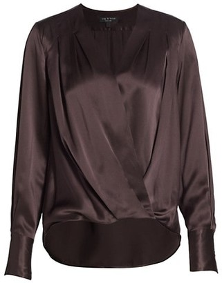 Rag & Bone Lei High-Low Silk Blouse