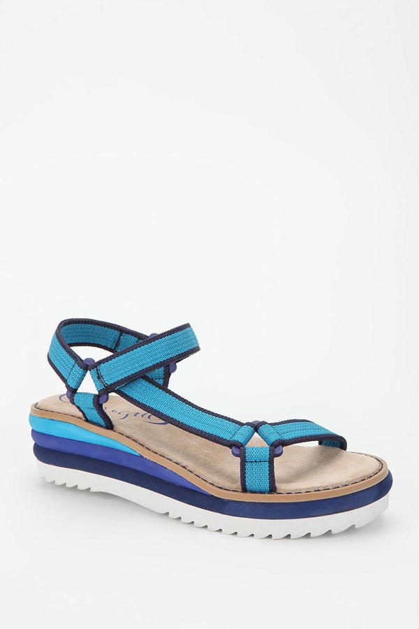 Urban Outfitters Vogue Barnacle Platform Wedge Sandal