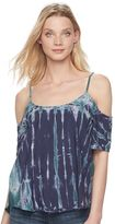 Rock & Republic Women's Cold-Shoulder Tie-Dye Top