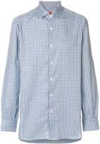 Isaia long sleeved checked shirt
