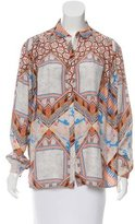 Matthew Williamson Silk Oversize Top