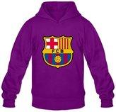 WYBU Men's Barcelona Long Sleeve Hoodie Sweatshirt Size S ,100% Organic Cotton