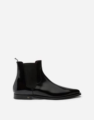Dolce & Gabbana Brushed Calfskin Chelsea Boots