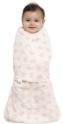 Halo2cloud HALO SleepSack Swaddle, 100% Cotton, Blush Watercolor Rose Toss, Newborn