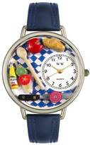 Whimsical Watches Unisex U0310001 Gourmet Navy Blue Leather Watch
