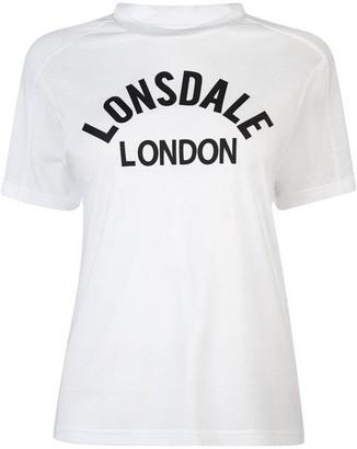 Lonsdale London Long Line Crew T Shirt Ladies