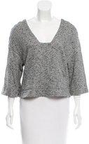 Derek Lam 10 Crosby Mélange Cutout Sweater