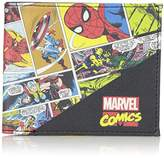 Marvel Comics Character Leather Bifold Wallet with Gift Tin Box
