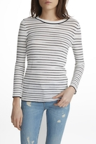 White + Warren Space Dye Stripe Top