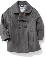 Old Navy Grey Wool-Blend Peacoat for Toddler