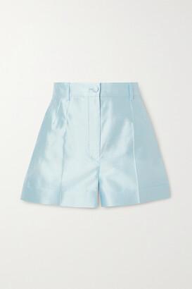 Dolce & Gabbana - Silk-dupioni Shorts - Blue