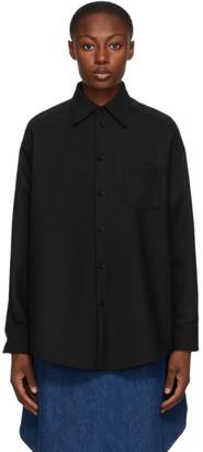 MM6 MAISON MARGIELA Black Wool Circle Shirt