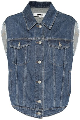 MM6 MAISON MARGIELA Oversized denim vest
