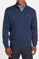 Vineyard Vines Quarter Zip Cotton Jersey Sweatshirt