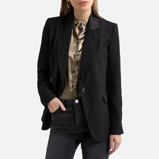 La Redoute Collections Tuxedo Blazer with Satin Collar