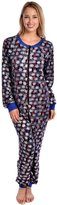 Sweet Intimates Women's Adult Onesie Hoodless Ultra Soft Printed One Piece Pajama