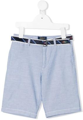 Ralph Lauren Kids Oxford chino shorts