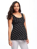 Old Navy Maternity Printed Cut-Out Back Jersey Tank