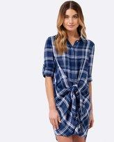 Forever New Nola Check Shirt Dress
