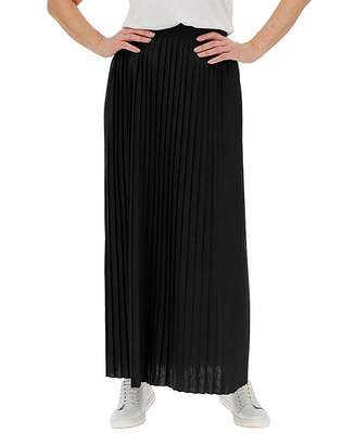 Marisota Pleat Stretch Jersey Maxi Skirt