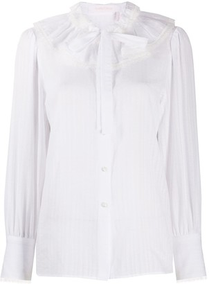 See by Chloe Bow Button-Down Blouse