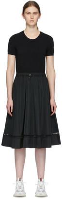 Moncler Black Drawstring A-Line Dress