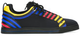 Fendi primary colour stripe trainers - men - Leather/Nylon/rubber - 39.5