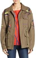 Tanya Taylor Alina Embroidered Twill Military Jacket
