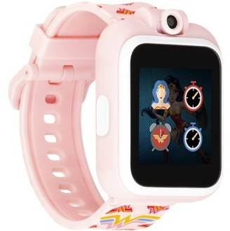 Wonder Woman Kids Smartwatch by PlayZoom - Selfie Camera and Video, Learning, Educational and Interactive Games, Birthday Gift for Girls and Boys (Blush Logo, 48mm)