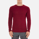 YMC Men's Suedehead Brushed Jumper Red