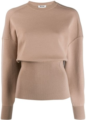 Acne Studios Voluminous Crew Neck Sweater