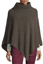 Joie Haesel C Speckled Cashmere Poncho, Heather Cacao