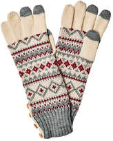 San Diego Hat Company Women's Fair Isle Glove with Button KNG3464