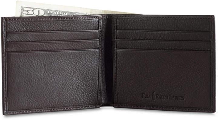 Polo Ralph Lauren Men Accessories, Pebbled Leather Billfold Wallet